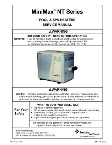 pentair minimax plus gas heater manual robert s tubs