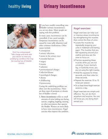 kegel exercises instruction sheet