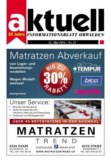 Aktuell Obwalden 21-2014