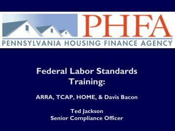 Pennsylvania Housing Finance Agency Davis Bacon