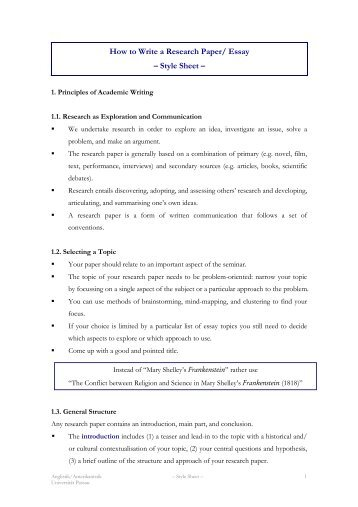 How to write the methods section of a research paper