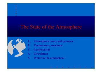 The State of the Atmosphere