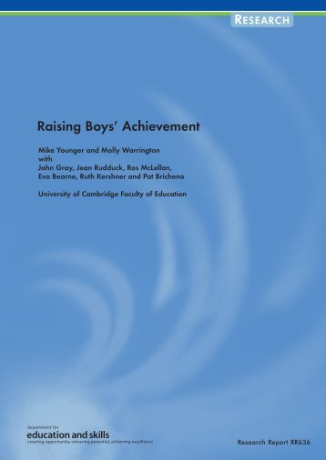 Raising Boys' Achievement - Department for Education