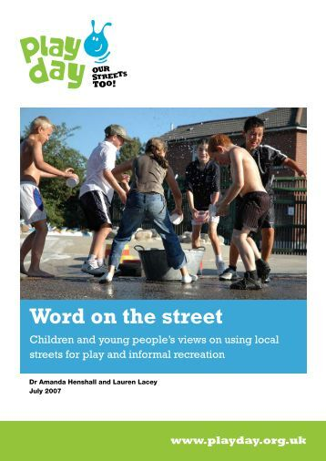 Word on the street - Play Scotland