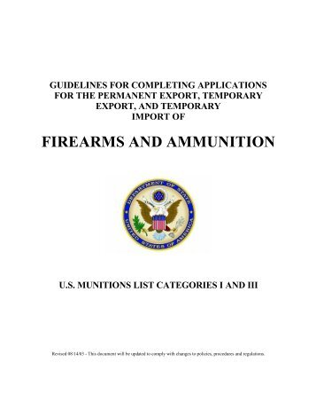 Documentation - Directorate of Defense Trade Controls - US ...