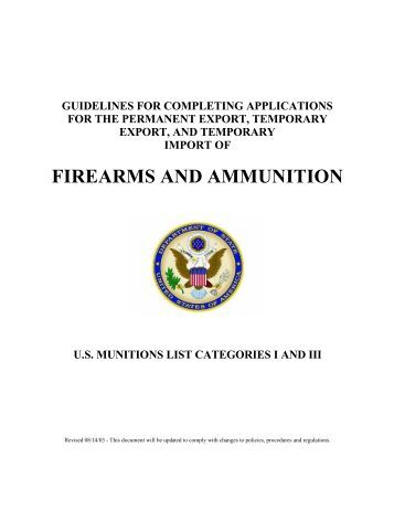 Documentation - Directorate of Defense Trade Controls - US ...