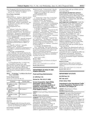 77 FR 35317 - Directorate of Defense Trade Controls - US ...