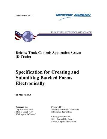 D-Trade - Directorate of Defense Trade Controls