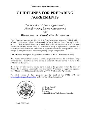 Guidelines for Preparing - Directorate of Defense Trade Controls ...