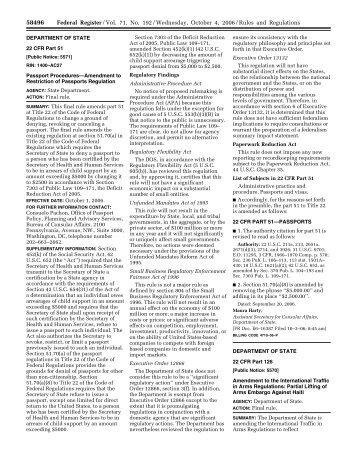71 FR 58496 - Directorate of Defense Trade Controls
