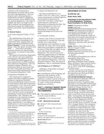 74 FR 39212 - Directorate of Defense Trade Controls
