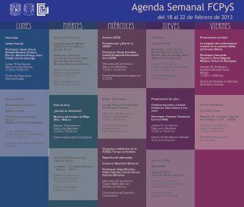 Agenda Politicas_04 - Facultad de Ciencias Políticas y Sociales ...