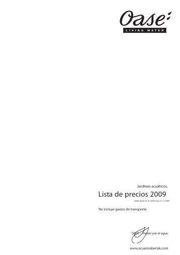 Lista de precios 2009 - Aberiak