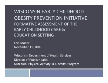 obesity in wisconsin The wisconsin nutrition, physical activity, and obesity program and the wisconsin partnership for activity and nutrition breastfeeding.