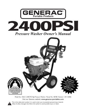 workforce pressure washer owners manual