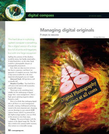 Managing digital originals - Professional Photographer Magazine