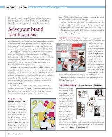 Marketing Kits - Professional Photographer Magazine