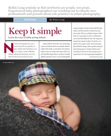 Safely Posing Infants - Professional Photographer Magazine