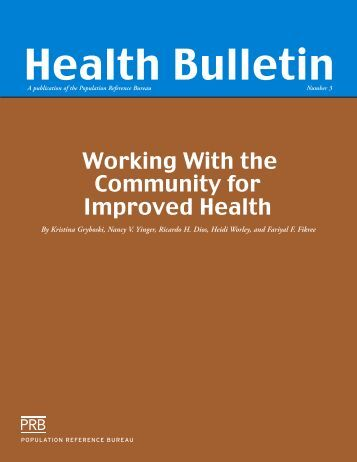 Working With the Community for Improved Health - Population ...