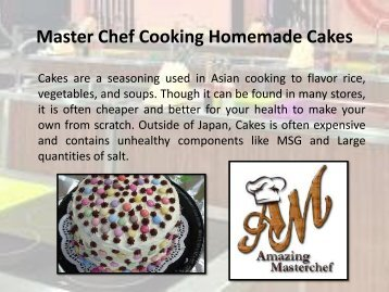 Master Chef Cooking Homemade Cakes