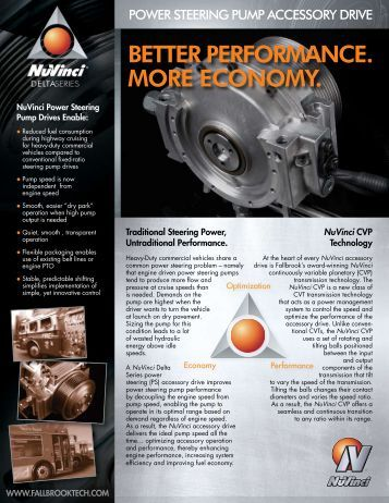 Power Steering Datasheet - Fallbrook Technologies Inc.