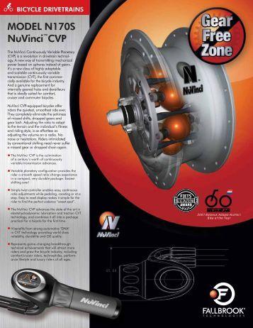 Datasheet NuVinci® Bicycle Model N170S - Fallbrook Technologies ...