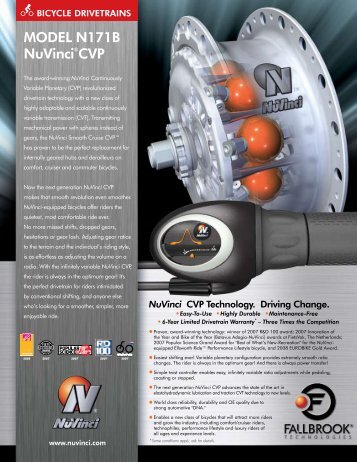 NuVinci® Bicycle Model N171B Datasheet - Fallbrook Technologies ...