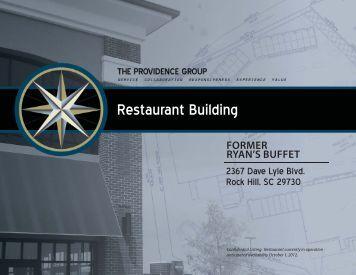 Restaurant Building Mktg Pkg.indd - The Providence Group