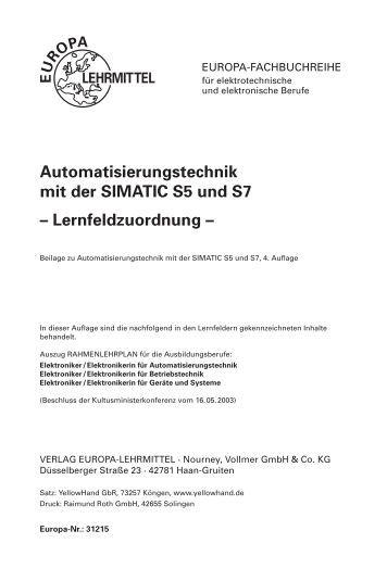 Automatisierungstechnik mit der SIMATIC S5 ... - Europa-Lehrmittel