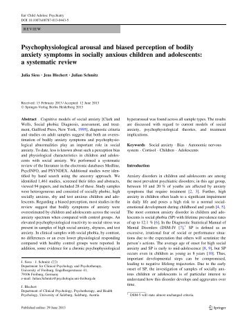 Psychophysiological arousal and biased perception of bodily ...