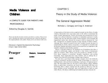 an analysis of the effects of violence levels in media American international journal of social science vol 2 no 7 october 2013 16 effects of elementary school students' gender and grade level on bullying.