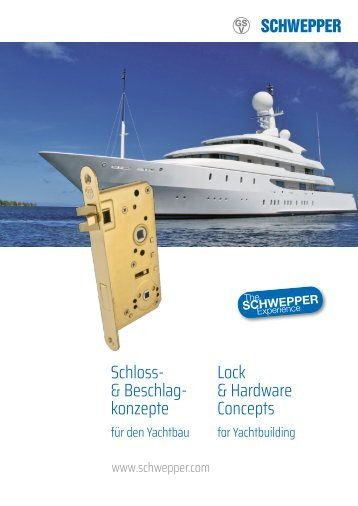 Yachtkatalog / yacht catalogue - Schwepper