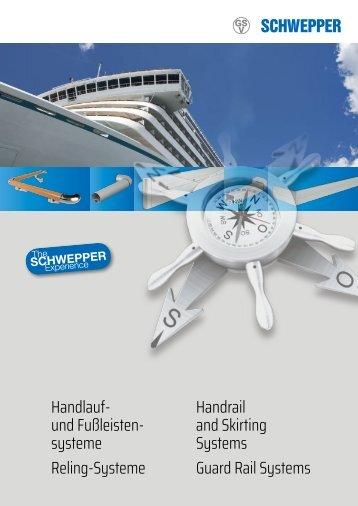 Broschüre Handlauf und Fußleistensysteme / leaflet Handrail and Skirting Systems - Schwepper