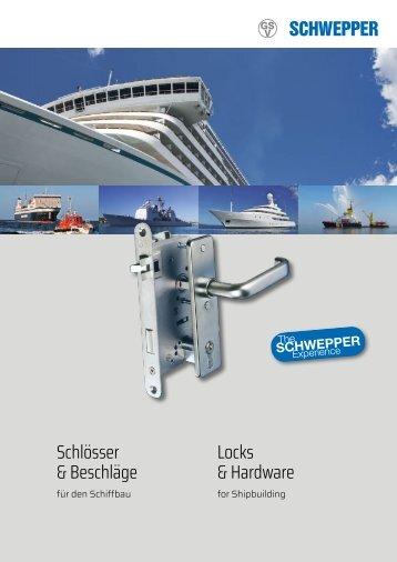 Broschüre Schlösser & Beschläge  Schiffbau / leaflet Locks & Hardware Shipbuilding - Schwepper