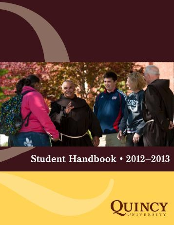 Student Handbook 12-13 Final - Quincy University