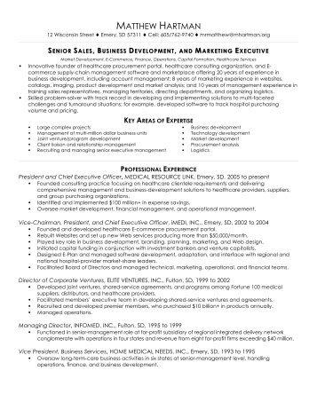 director of business development resume
