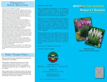 QVC IN THE GARDEN RobeRta's GaRdens - QVC.com
