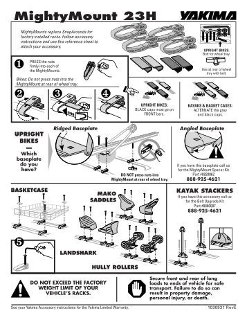 prorack fitting kit instructions