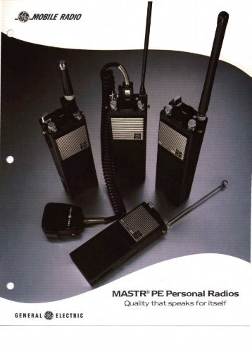GE Mastr PE Personal Radio Sales Brochures, Part 1 of 2