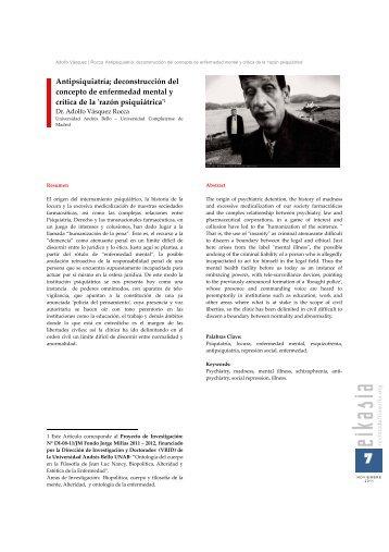 Antipsiquiatría; deconstrucción del concepto de enfermedad mental ...