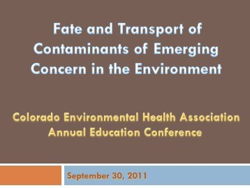 September 30, 2011 - Public Health Alliance of Colorado