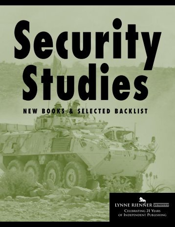 Security catalog final - Lynne Rienner Publishers