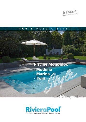 Prefab zwembaden modena marina rivierapool for Piscine poolman