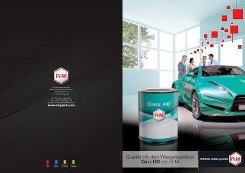 Qualität mit dem Wasserbasislack ONYX HD von R-M - RM Paint