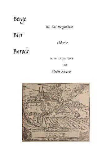 Berge Bier Barock