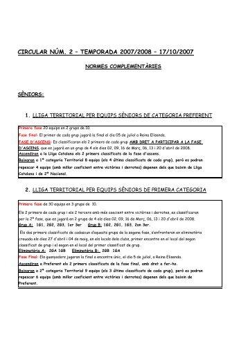 CIRCULAR NÚM. 2 – TEMPORADA 2007/2008 – 17/10/2007 - rtbtt