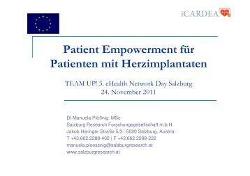 Patient Empowerment - Salzburg Research Forschungsgesellschaft