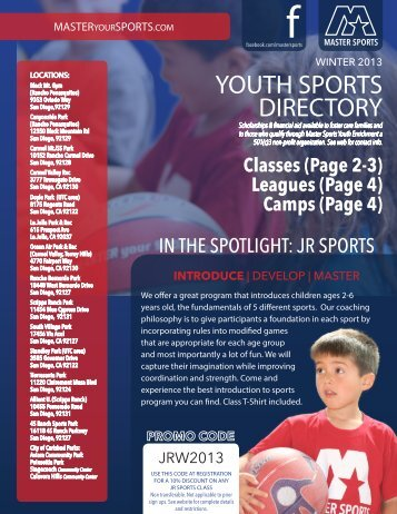 YOUTH SPORTS DIRECTORY - San Diego City Schools