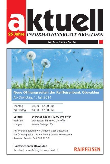 Aktuell Obwalden 26-2014