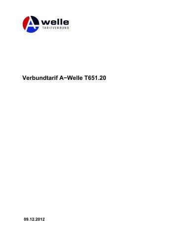 Verbundtarif A−Welle T651.20
